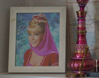 I Dream of Jeannie signed bottle by Barbara Eden