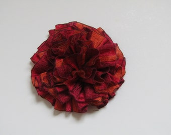 Flower Brooch, Crochet flower pin,  Scarf pin, Lapel pin, Hat brooch, Fashion, Brooches, Mother's Day gift, gifts for her