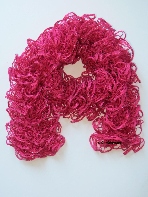 ruffle scarf frilly scarf knitted scarf fashion scarf