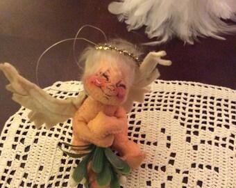 Annalee angel/ annalee doll/ vintage annalee/ felt angel/ collectable angel/ angel ornament/ vintage christmas/ christmas doll