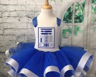 R2D2 tutu dress, R2D2 tutu, R2D2 costume, Star Wars Wedding, R2D2 Comic Con, Droid tutu, Droid costume, R2d2 dress, droid dress