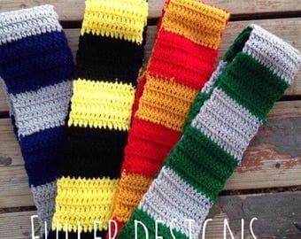Harry Potter scarf, griffindor scarf, Harry Potter prop, photography prop, Harry Potter, griffindor prop,tassel scarf