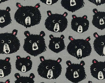 Black and White 2017 From Cotton and Steel Collaborative Teddy and the Bears Grey
