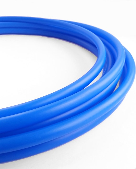 UV Blue 3/4 HDPE Hula Hoop// Customizable// Light Weight//Trick Hoop//Dance Hoop