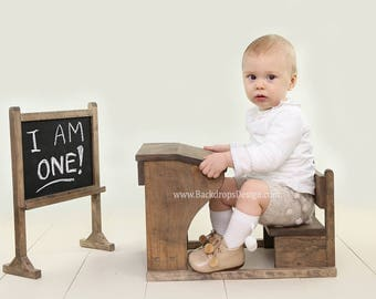 READY TO SHIP*see details! School Desk and Chalkboard prop set 1-3 years old baby photography newborn vintage prop