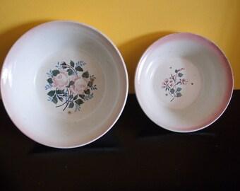 2 Vintage salad bowls, ceramic