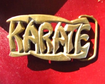 Vintage Brass Karate Buckle - Karate Brass Buckle