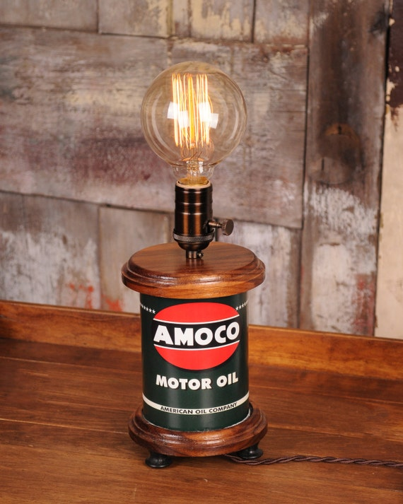 Antique Amoco Motor Oil Edison Lamp