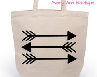 Canvas Tote Grocery Bag Grocery Tote Book Bag Canvas Bag Funny Tote Bag Cute Tote Bag Farmer's Market Bag Tribal Arrow Arrow Bag