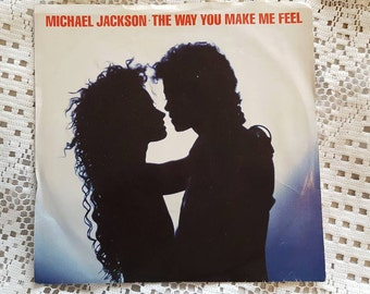 "1987 Michael Jackson  ""The Way You Make Me Feel"" 45 RPM Record"