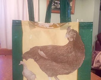 Market Bag -Repurposed Feed Bag