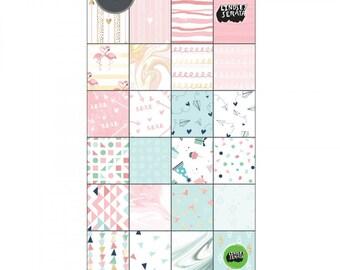 New! Sizzix Paper - 6x12 Cardstock Pad, Mini Celebrations, 48 Sheets - 661865