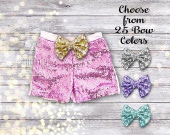 Pink Baby Girl Shorts Pink Sparkle Shorts Light Pink Shorts Pink Sequin Shorts Girl Clothes Birthday Shorts Toddler Shorts Sizes Newborn-6T