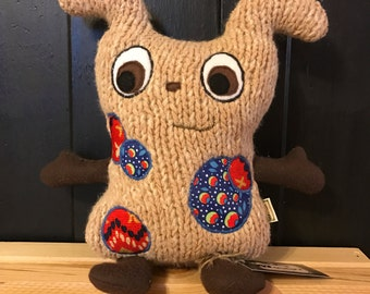"""Monster Plush - Merry Monsters - """"Cubby"""" - Stuffie -  Handmade from Upcycled Materials"""