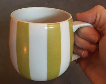 Set of 4 vintage striped coffee cups