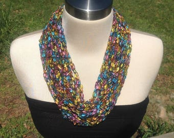 Crochet necklace - assorted colors
