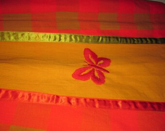 Vintage 1960s Colorful Ethnic Cotton Peasant Skirt XS Boho Embroidered El Buzon
