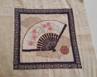 Oriental Fan Cross Stitch