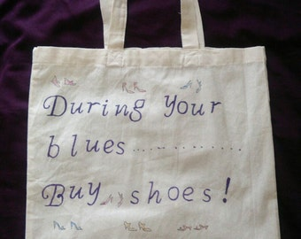 During your blues buy shoes, tote bag.