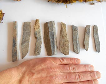 Garden Stones- set of 100 Long Rock Beams- Mountain stone beams- rock bricks- Beach Stone Supplies