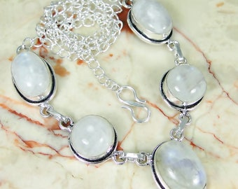 Ranbow moonstone 925 necklace