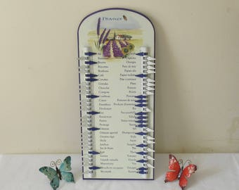 "Great Metal Shopping Memo List In French, ""Liste de Courses"", Antique Styled Kitchen Wall Hanging, Provence,highly decorative, Bon Appétit!!"