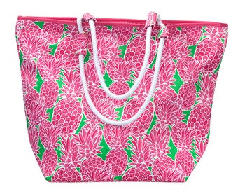 Pineapple beach bag | Etsy