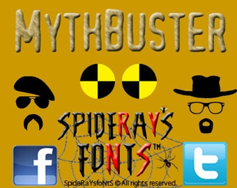MYTHBUSTER Commercial Font