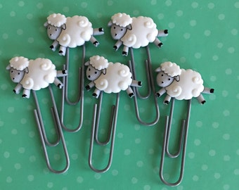 Sheep planner clips // sheep bookmarks // planner clips // filofax clips // sheep planner accessories // sheep clips