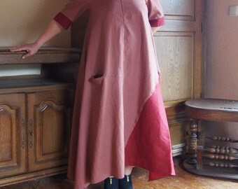 NEW Maxi Dress / Kaftan Linen Dress /   Extravagant Long Dress / Party Dress & Nara LR017
