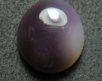 Purple lavander mexican chalcedony cab (E2649)