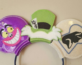 Disney Alice Inspired Mouse Ears