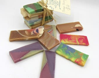 Handmade Soap Samples - mini soap samples/travel soaps/guest soaps/natural soap/hand made soap/mini gift soaps/mini soaps /Owl Natural Soaps