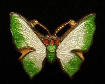 Tiny Enamel Butterfly Scatter Pin Vintage