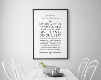 Family Vision Statement POSTER PRINT, Inspiring Quotes, Inspirational Quotes, Christian Home, Faith, Believe, Church