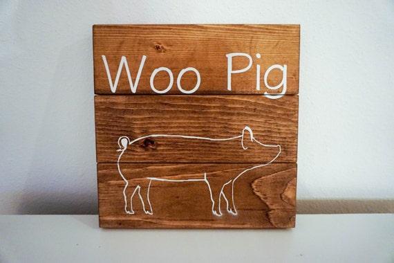 Woo Pig Sign, Arkansas Sign, Wood Sign