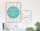 Custom A3 Fine Art Print: Upgrade any Poppy Loves to Groove Digital Listing to an A3 fine art print, personalised print, custom art poster