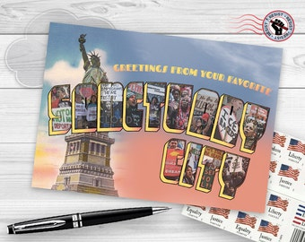 Postcards from the Resistance - Greetings From Your Favorite Sanctuary City (Retro Inspired)