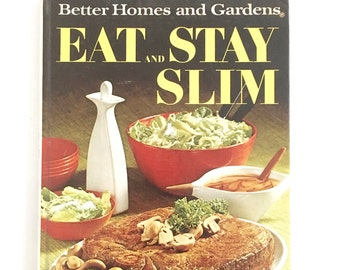Vintage Dieting Cookbook Eat and Stay Slim Menu Exercise Book Meal Plan Calorie Count Recipe Guide 1960s Weight Reducing System