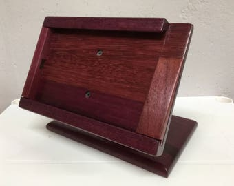 Purple heart wood iPad mini stand for Square