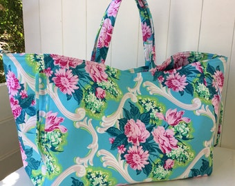Handbag, Large Tote, Overnight Bag, Sports Bag, Floral Design, Diaper Bag, Made in Australia, Bags and Purses, Crossbody Bags, Gift For Her