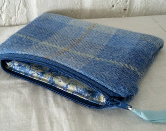 Handmade Recycled Harris Tweed Pouch
