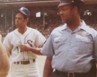 Early 1960's Chicago White Sox Lou Aparicio Comiskey Park Snapshot Photo - Free Shipping