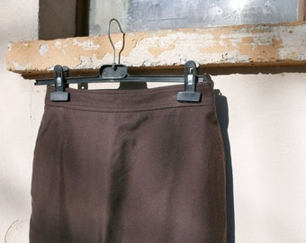 Vintage brown skirt with zip closure OOAK Made in Italy