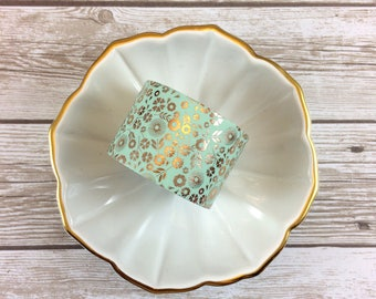 30 mm Gold Foiled Floral Washi Tape // #040