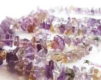 Citrine & Lavender Amethyst Necklace of 80 cms