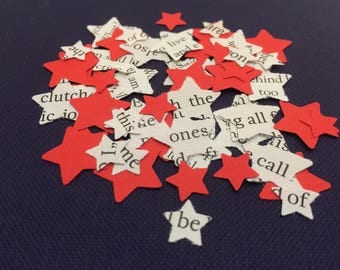 Star Shaped | Confetti | Book Page | Wedding | Decorations | Scrapbook | STARS | Craft Embellishments | Party | Table Scatters | Handmade