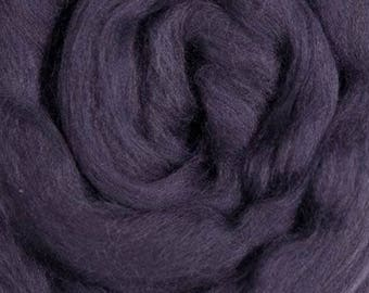 Dyed Merino - Plum - Solid color commercial dyed - combed top roving spinning felting fiber fibre arts  - purple