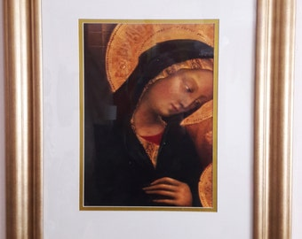 Large Framed Print under Glass of the Madonna