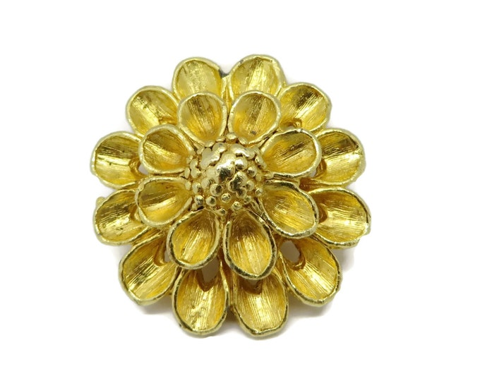 Flower Scarf Clip, Vintage Gold Tone Clip, Dress Clip, Women's Accessory Clip, Gift for Her